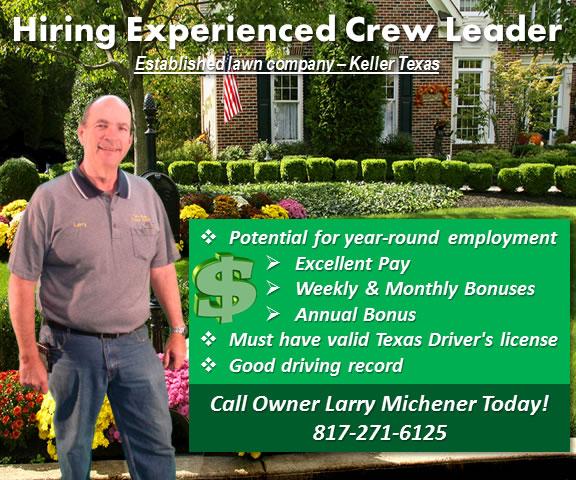 lawn landscape jobs located in keller tx